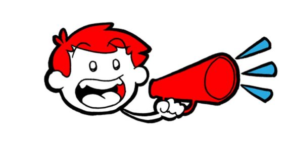 6 Insanely Good Dialogue Tips From Your Future Literary Agent - A character shouts into a megaphone.