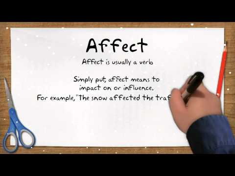 An Easy Way To Remember The Difference Between 'Affect' And