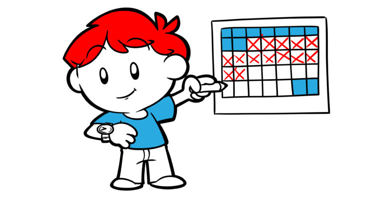 Passing Time Is The Secret To Improving Your Story - A writer crosses off dates on a calendar while simultaneously checking his watch.