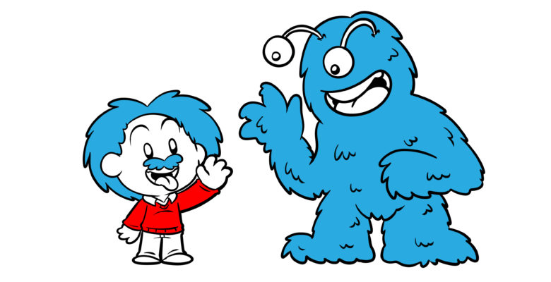 How To Get Away With Using Real People In Your Story - Einstein greets a goggle-eyed monster.