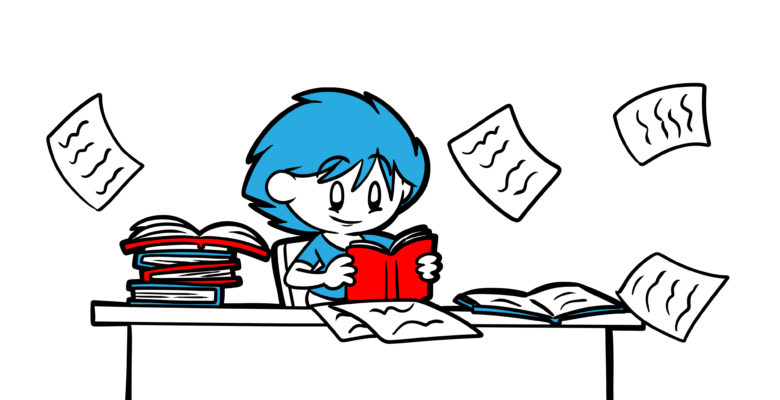 Learn How To Research Your Book With This Beginner's Guide - An author researches at superspeed.