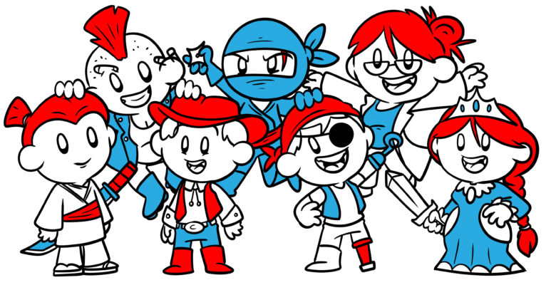 This Is The Blueprint For A Perfect Cast Of Characters - A cast of characters, including a ninja, a scientist, a princess, and a cowboy.