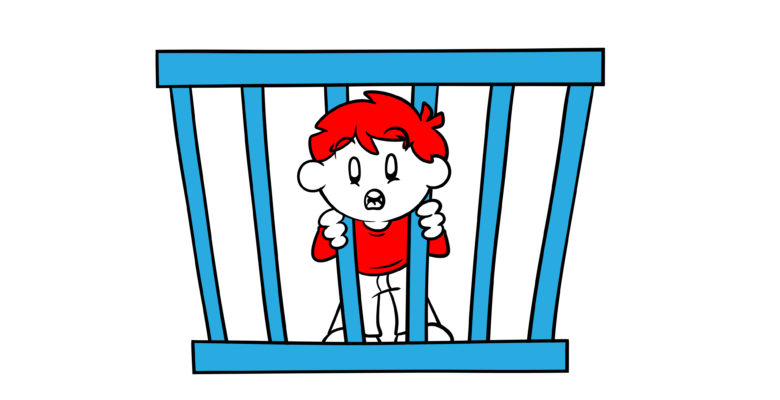 Avoid A Boring Thriller With This One Simple Trick - A character stares out from between the bars of a cage.