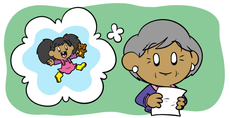 The 3 'P's of Writing From A Child's Perspective - An elderly writer imagines herself as a child.