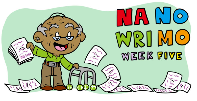 NaNoWriMo Week 5: How To Finish And Edit Your Story - An old man holds up a finished draft.