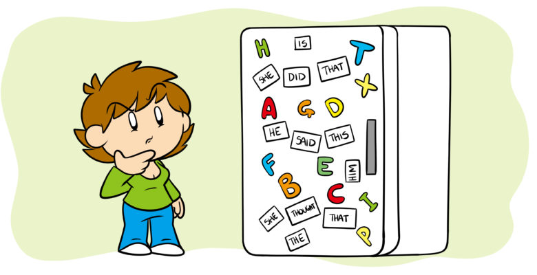 Here's How To Vary Your Sentence Structure - An author considers their fridge, on which the magnets spell out the same type of sentence over and over.