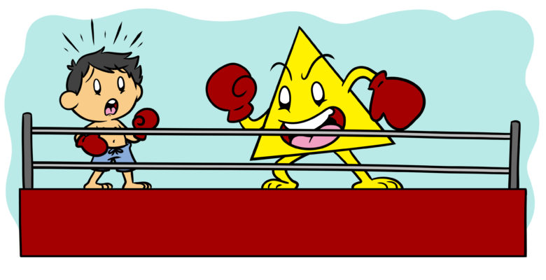 Nobody Beats The Triangle, But You Can Be Prepared For It - A boxer faces off against a giant triangle.