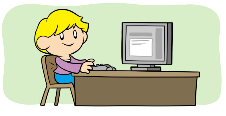 How To Have Your Author Blog And Write For It, Too - An author sits at a computer, typing.