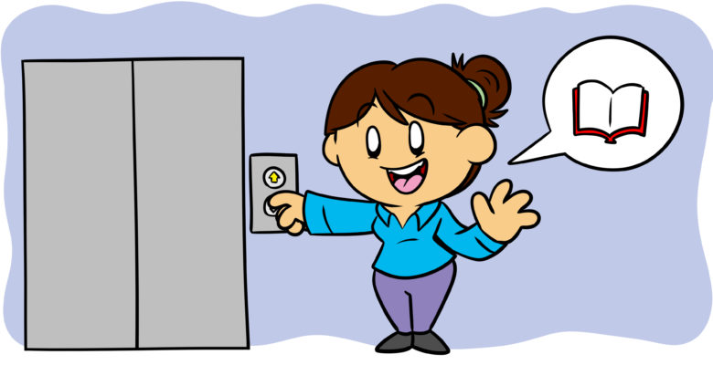 Mastering The Art Of The Elevator Pitch - An author calls an elevator.
