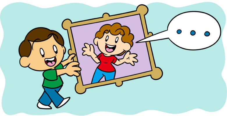 Can A Framing Device Improve Your Writing? - An author holds a framed picture which is about to speak.