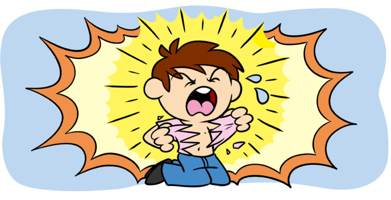 The Author's Guide To Melodrama (And What It Can Do For You) - Screaming, a character rips off their shirt.