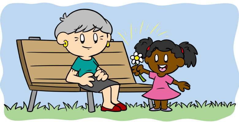 Sympathy Isn't Empathy – Here's Why That's Your Problem - A young girl offers an old woman a flower.