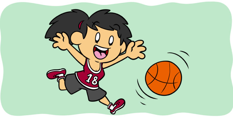 Make Sports Work In Your Fiction - A basketball player runs after the ball.