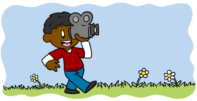Everything You Ever Wanted To Know About Deep POV - An author strides along, holding a video camera.