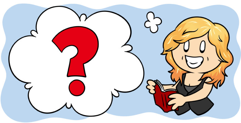 Another 3 Writing Myths You Should Feel Free To Ignore - An author reads a book, a question mark filling her thought bubble.