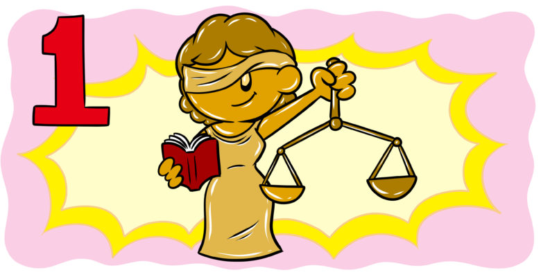 What Authors Need To Know When Writing About Law – Part 1 - Lady Justice grins at the reader.