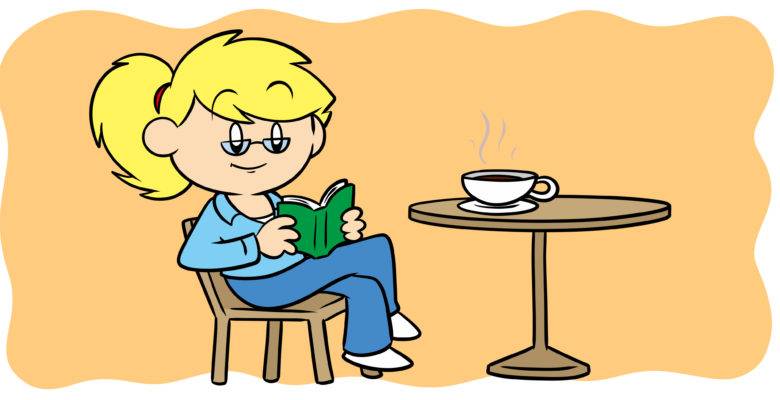 What You Need To Know About Literary Fiction - A woman reads a book with a cup of coffee.