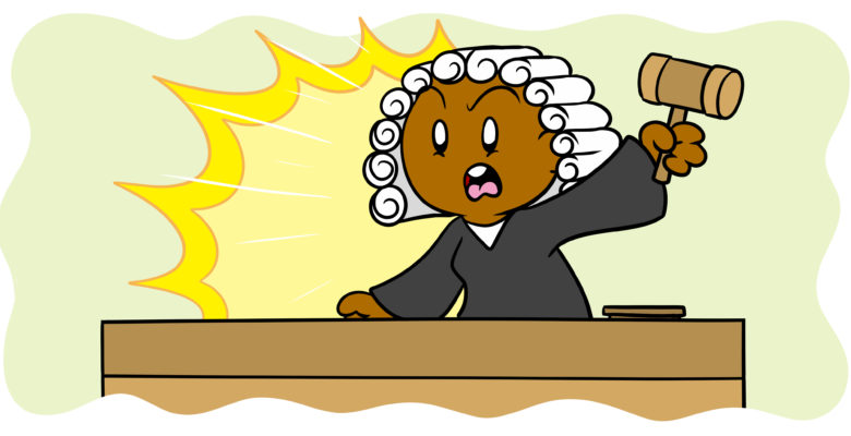 The 6 Golden Rules Of Writing Legal Fiction - A judge yells, banging her gavel.