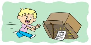 Here's How To Avoid Being Snared In A Publishing Scam - An author runs towards a box-trap, only seeing the contract being used as bait.