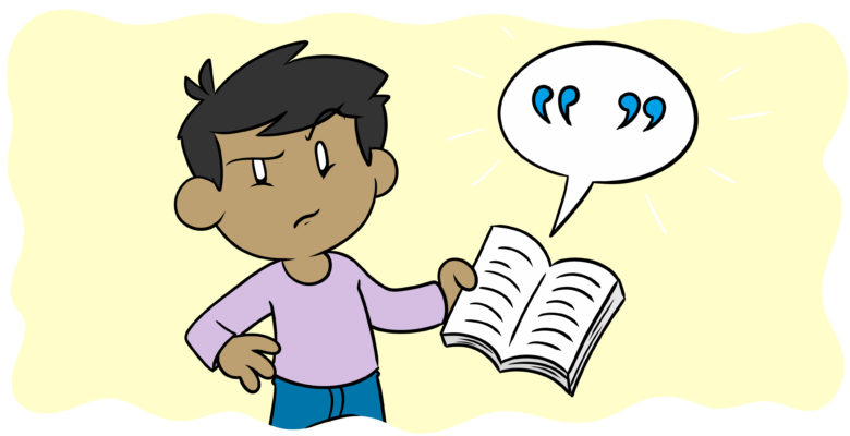 8 Clichés That Are Killing Your Dramatic Dialogue - A reader opens a book, seemingly irritated by the dialogue.