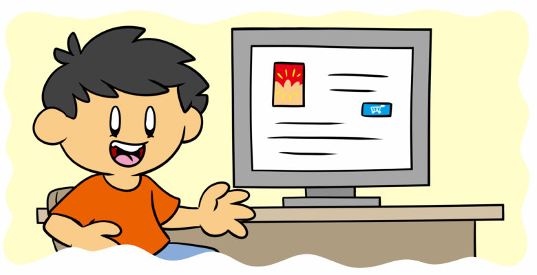 What You Need To Know About Book Discovery Sites - An author grins, looking over an online catalog.