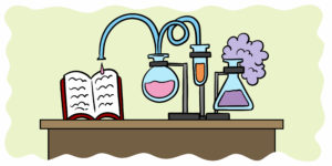 Which Readability Tests Can Actually Improve Your Writing? - Liquid flows from beakers, through tubes and onto a book.