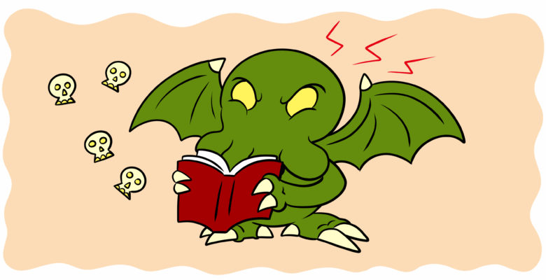 Are You Experimenting With New Weird Fiction? - A strange monster reads a book, seemingly annoyed.