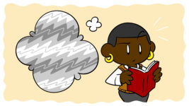 Authors Need To Know About Aphantasia: Here's Why - Someone reads a book, but their thought balloon only shows static.