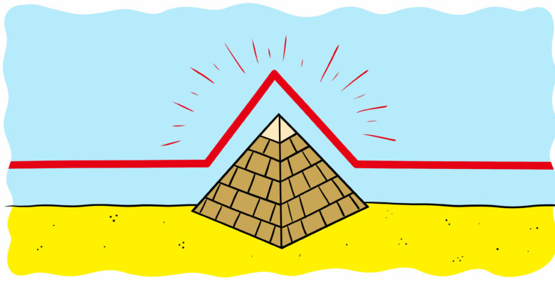 Could Freytag's Pyramid Help You Structure Your Story? - A red line appears over an Egyptian pyramid.