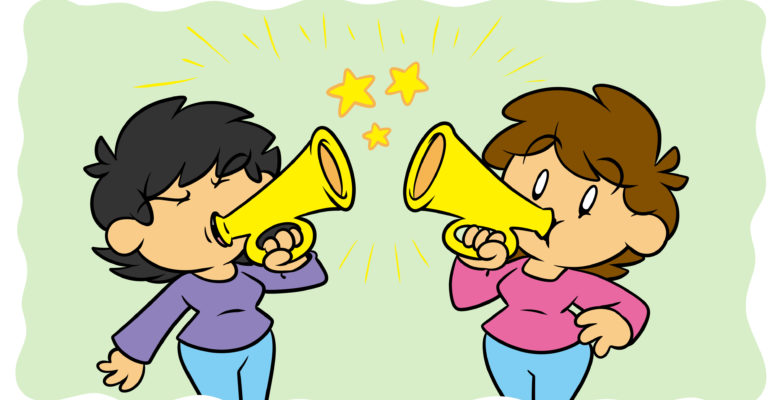 What Can Euphony And Cacophony Do For Your Writing? - Two writers play bugles.