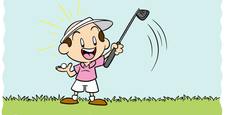 How To Write About Your Hobby (As An Author) - A golfer looks happily at their club.